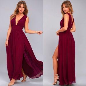"Burgundy Maxi Dress- formal. ""Heavenly Hues"""